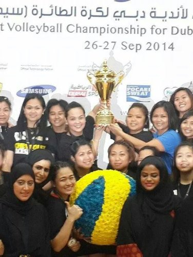 Congratulations for Chevrolet - Bin Hamoodah Auto winning the first volleyball championship for Dubai clubs - Ladies